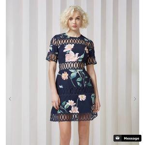 Whispers Dress in Navy Floral by Keepsake